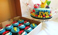 Pokemon, Pikachu Cake and Cupcakes