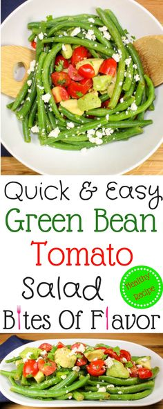 Green Bean Tomato Salad-Perfect side dish for a busy week night!  Quick to make, low calories, refreshing, & full of flavor!  Weight Watcher friendly (4 SmartPoints)!