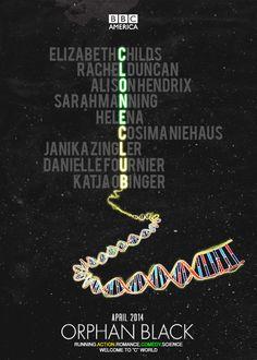 Orphan Black season 2 fan poster