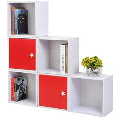 Wooden Wood Storage Cube Unit Bookcase Shelf Cupboard Cabinet Stackable Shelving