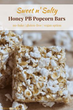 Sweet n' Salty Honey PB Popcorn Bars | Healthy Helper @Healthy_Helper The sweet n' salty snack bar of your dreams is here! These Honey Peanut Butter Popcorn bars are sure to delight any tastebuds. No baking required, gluten-free, and easily made vegan, too!