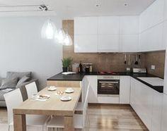 Aranżacje wnętrz - Kuchnia: Projekt strefy dziennej i łazienki w mieszkaniu w Chorzowie - Średnia otwarta kuchnia w kształcie litery l w aneksie z wyspą, styl nowoczesny - RESE Architekci Studio Projektowe. Przeglądaj, dodawaj i zapisuj najlepsze zdjęcia, pomysły i inspiracje designerskie. W bazie mamy już prawie milion fotografii!