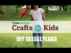 Celebrate special occasions with fun tassel flags from #pbscraftsforkids.