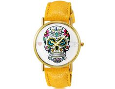 Woman Watch Colored Skull. Shop online on: ilovetimepieces.com