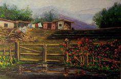 pintura para niños..siempre recreando rincones del campo chileno