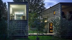 The Zen Houses delineate home and office by putting them in separate, but nearly identical, buildings.
