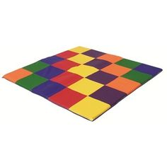 The SoftZone Patchwork Toddler Mat is your all-around mat! It's comfortable enough for tender hands and little feet to crawl on and exceptionally soft for play and rest time! 58 sq. inches provide an ample amount of room to move around and crawl!