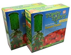 Topsy Turvy Upside Down Tomato Planter  As Seen On TV Pack of 2 -- Continue to the product at the image link.