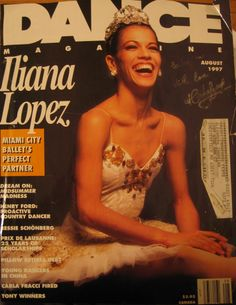 autographed dance magazine with Iliana Lopez from Miami City BAllet