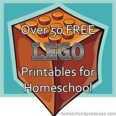 Over 50 FREE Lego Printables for Homeschool!