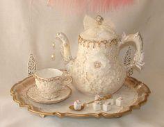Vintage Tea Set Opulent Victorian Marie Antoinette by treasured2