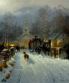 Christmas in the Village by G. Harvey by G. Harvey