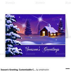 Holly pine wreath candles italian christmas card italian seasons greeting merry christmas snowy village painting custom christmas greeting cards matching cards m4hsunfo
