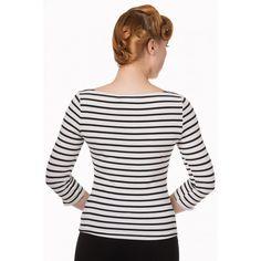Banned- Modern Love Top Black/White Stripes - Banned Apparel - Merken