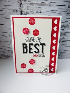 Stampin Utopia Bestel Stampin' Up! Hier: Fijne Vaderdag! Father's Day card, hearts border, Friendly Wishes, and many more