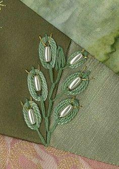 Bead embroidery Hand Stiching, Crewel Embroidery Kits, Embroidery Patterns, Fabric Art, Embroidery Designs, Cross Stitch Patterns