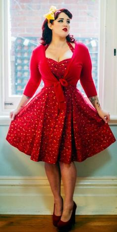 This Vintage plus size rockabilly fashion style outfits ideas 17 image is part from 100 Ideas to Dress Rockabilly Fashions Style for Plus Size gallery and article, click read it bellow to see high resolutions quality image and another awesome image ideas. Plus Size Rockabilly, Rockabilly Mode, Rockabilly Outfits, Rockabilly Fashion, Rockabilly Clothing, Fashion Moda, Curvy Fashion, Retro Fashion, Vintage Fashion