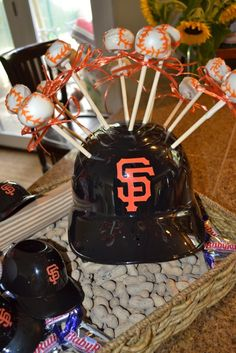 San Francisco Giants Baseball cake pops