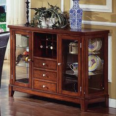 Have to have it. Steve Silver Plato Dining Server with Wine Rack $674.00
