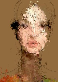 Michelle. Generative and procedural on archival paper. Pigmented inks.by Sergio Albiac