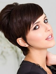 Short Pixie Haircut with Side Swept Bangs | PoPular Haircuts