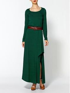 how many things can we put that I like in 1 dress...maxi, slit, sleeves, color, waistline.