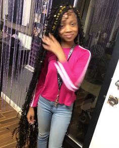 Big Box Braids Hairstyles, Black Hairstyles With Weave, Loose Hairstyles, Braided Hairstyles, Colored Braids, Baby Hairs, Hair Stylists, Amazing Hair, Protective Styles