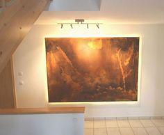 Wir haben dieses Wanddesign Wirklichkeit werden lassen und es an exponierter Stelle bei Familie V. im Eingangsbereich angebracht.