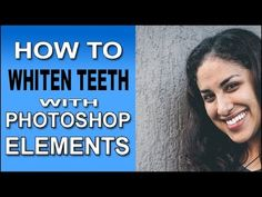 This Photoshop Elements tutorial shows how you can whiten teeth on any of the subjects in your photos quickly and easily. And you have total control of how far to go with the effect. Photoshop Elements Tutorials, Adobe Photoshop Elements, Photoshop Tips, Photoshop Tutorial, Editing Pictures, Photo Editing, Photo Craft, Video Photography, Teeth Whitening