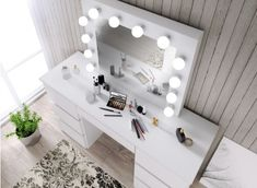 Transport gratuit, livrare din stoc. Makeup Dressing Table, Vanity, Led, Furniture, Home Decor, Vanity Area, Homemade Home Decor, Lowboy, Dressing Tables