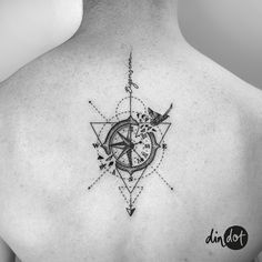 Back piece for Jonas. Vielen Dank!! So cool you're living now in Malaga!  .  .  .  andreadindon@gmail.com for bookings✨  .  .  .  #dindot_tattoo #tattoo #dotwork #dotworktattoo #compasstattoo #geometrictattoo