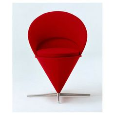 Cone Chair by Verner Panton in Red