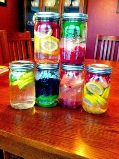 Infused waters for summer with citrus, berries, and herbs