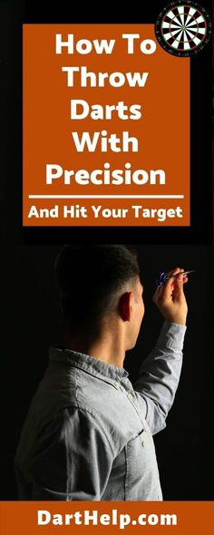 To throw a dart with precision, you must keep your elbow up and eye on the target. Your upper arm should not move during the throw and it should act as a base of a pendulum to launch the dart at the dartboard. Play Darts, Darts Game, Dart Board Games, Best Darts, Time To Move On, History Education, I Am Game, Funny Design, Darts