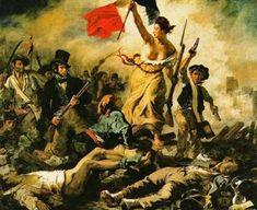 Liberdade Guiando o Povo - Delacroix, Eugène e suas principais pinturas ~ Romantismo francês