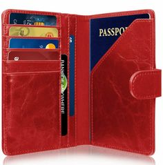 Sports Logos Baseball Typography Emblems Blocking Print Passport Holder Cover Case Travel Luggage Passport Wallet Card Holder Made With Leather For Men Women Kids Family