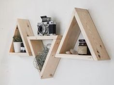 Wood Shelves, Floating Shelves, Shelving, Triangle Wood Shelf, Wood Texture, Projects, Diy, Photos, College