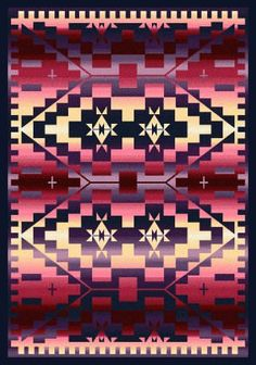Add a pop of color to your home with the American Dakota Rainbow Blanket Indoor Area Rug . This area rug features a striking geometric pattern in. Southwestern Area Rugs, Southwestern Decorating, Southwest Quilts, Native American Rugs, Native American Fashion, Colour Pallette, Red Rugs, Woven Rug, Rug Making