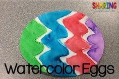 Need a simple, easy art project for Easter? Check out these Watercolors Easter eggs! Here is how you can prepare these eggs. Trace several eggs onto white construction paper. Using regular glue, create fun patterns onto the eggs. Here is a close up view of the eggs. Let the glue dry. {The thicker the glue, …