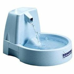 Drinkwell Pet Fountain: Drinkwell Cat Water Fountain Do you have a cat who insists on drinking from a dripping faucet?Save time and money by using this unique filtered waterfall instead of turning your faucets on and off and paying more on your water bills. Do you have a cat who is prone to urinary tract or kidney disorders?Save trips to the vet by giving your cat this innovative constant access to running water, encouraging him to drink more and improve urinary health. Do you simply want to…