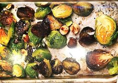 Since Dr. Esselstyn promotes a no-oil vegan diet, I decided to consult Chef AJ's wonderful book Unprocessed to find a good no-oil maple-glazed brussel sprouts recipe to have with my baked potato. I got lucky and found exactly what I was looking for. FYI, I also love Chloe Coscarelli's recipe for maple-roasted brussels sprouts with toasted hazelnuts from her cookbook Chloe's Kitchen. Please note that Chloe's recipe does contain oil. I will post both recipes here, along with my ...