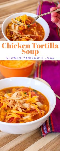 45-Minute Comforting Chicken Tortilla Soup - New Mexican Foodie