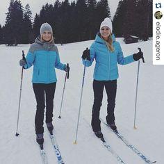 Pour affronter le froid et partir à la rencontre de belles histoires, @sandrinearcizet et @elodie.ageron se sont équipées avec la veste de ski ATHENEE et la doudoune CLARION. Les looks sont parfaits ! Vous en pensez quoi ? ❄ #look #sunvalley #hiver1516 #skiwear #lesanimauxdela8 #D8 #emission #veste #ski #snow