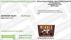 Winner Airport Parking - Best of Philly Award 2013 Philadelphia Airport PHL Airport Parking Coupon from LongtermParking.com