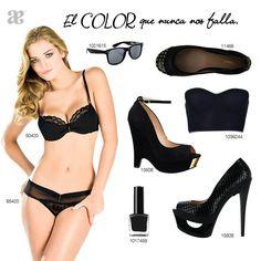 Negro, un color básico que siempre te favorecerá.