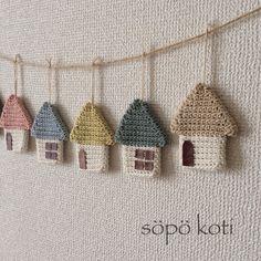 Amigurumi Toys, Amigurumi Patterns, Crochet Patterns, Crochet Home, Knit Crochet, Crochet Garland, Rustic Entryway, Crochet Bikini, Garlands