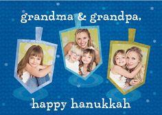 Happy Dreidels - Hanukkah Greeting Cards in Capri Blue | Magnolia Press