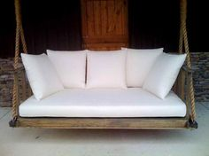 Ignore the Swing part but loving the big white cushions for your day bed upstairs