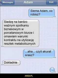 Funny Sms, Funny Messages, Wtf Funny, Funny Texts, Polish Memes, Love Memes, Sarcastic Humor, Man Humor, Funny Comics