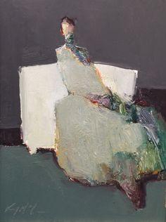 Danny McCaw, 'Harmonies', Oil on Board, 12x9 - Anne Irwin Fine Art
